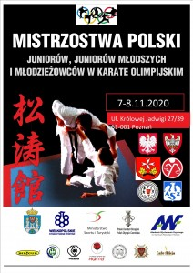 PLAKAT MP karate U21 7-8.11.2020
