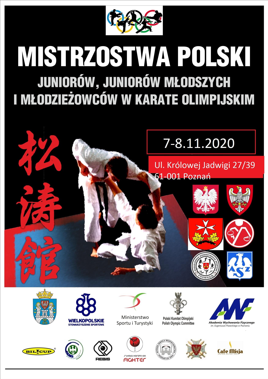PLAKAT MP karate U21 7-8.11.2020
